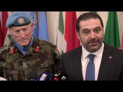 Prime Minister Hariri visits UNIFIL headquarters