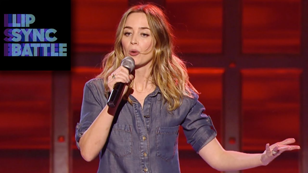 Download Emily Blunt performs No Diggity on Lip Sync Battle