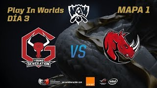 YOUNG GENERATION VS KAOS LATIN GAMERS - LOL WORLDS 2017 - DÍA 3 - PLAY IN