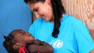 On the job in UNICEF Haiti