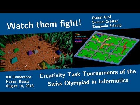 Watch them fight! Creativity Task Tournaments of the Swiss Olympiad in Informatics
