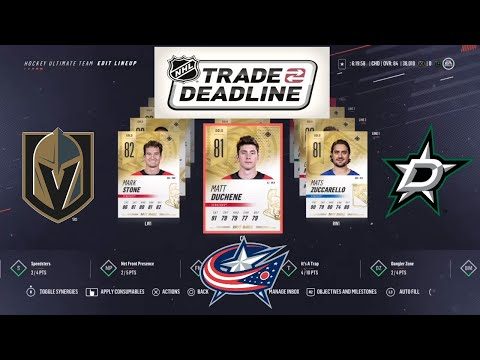 Team Build only using players traded near the deadline on NHL 19 HUT