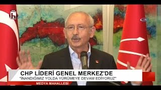 Oturma eylemi sona erdi.. Kemal Kılıçdaroğlu'ndan açıklama
