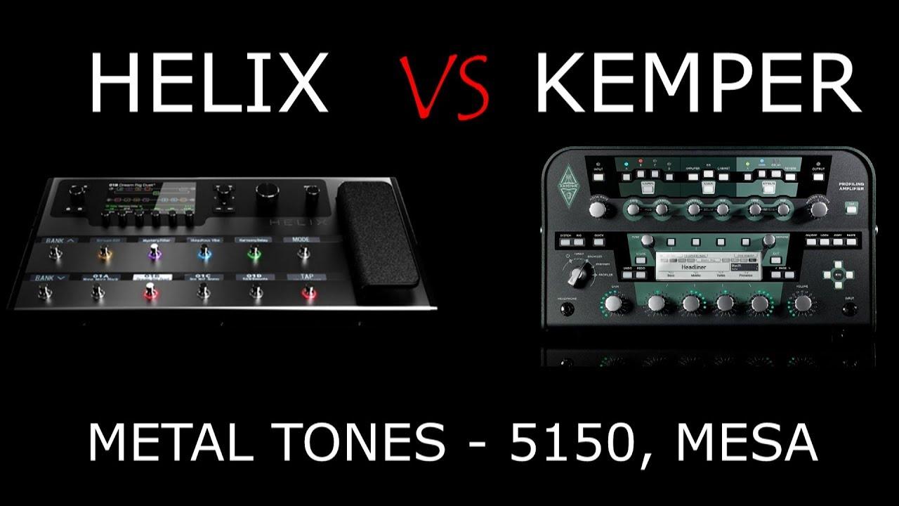 Line 6 Helix VS Kemper - Metal tone shootout