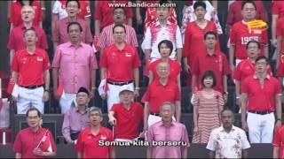 Singapore National Day Parade (NDP) 2015 National Anthem Malay (Majulah singapura) Part 1