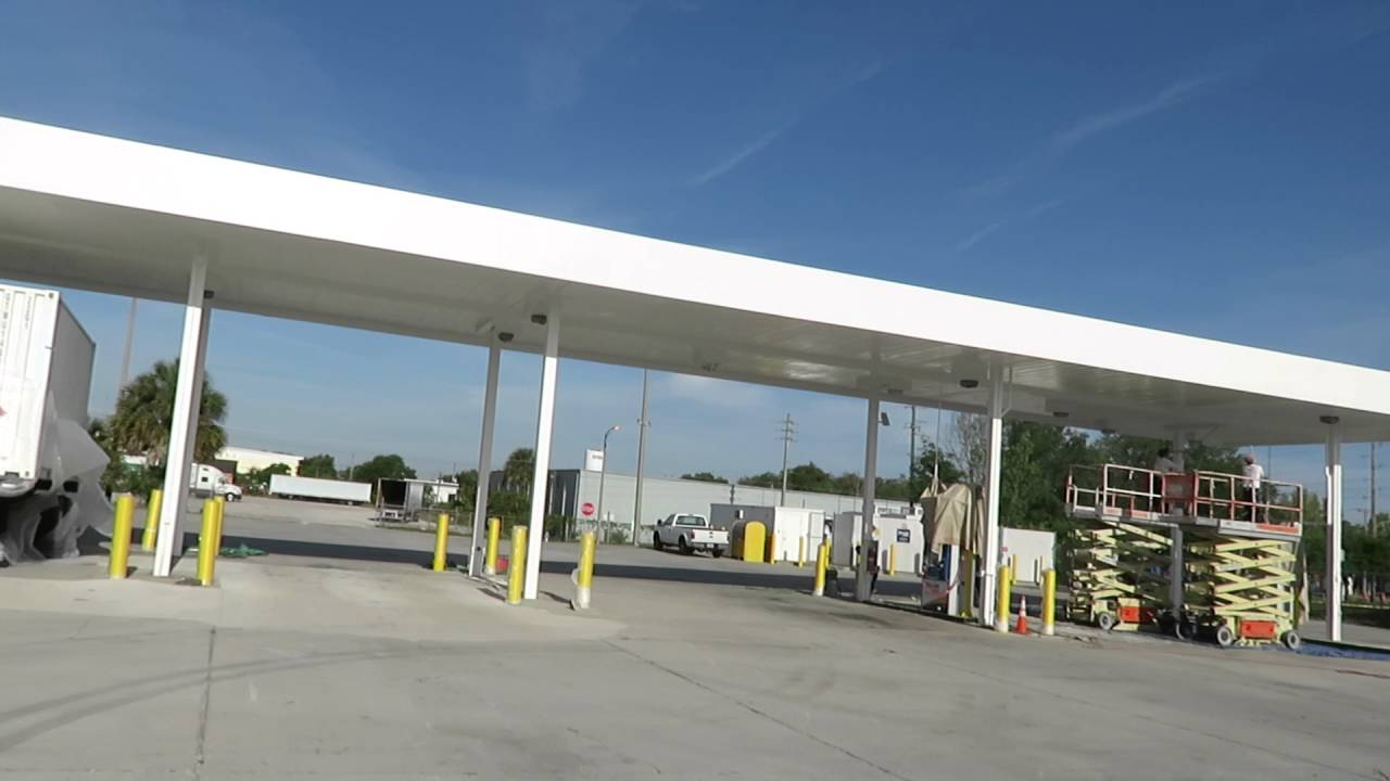 Diesel Fuel Gas Station Steel Canopy Painters In Orlando