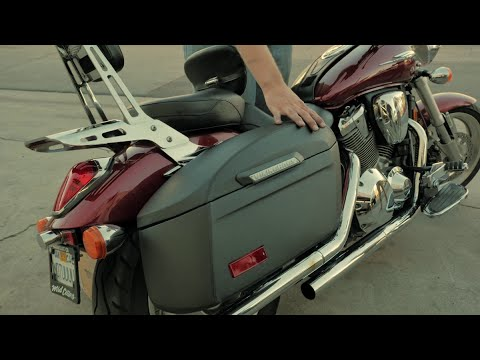 Honda VTX 1800c w/ Viking Bags Leather Hard Bags Installation & Review