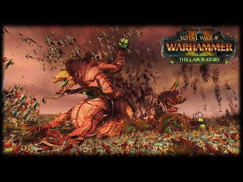 DOOMWHEELS + HELL ABOMINATIONS VS 40,000 LIZARDMEN! Total War: Warhammer 2 - The Laboratory