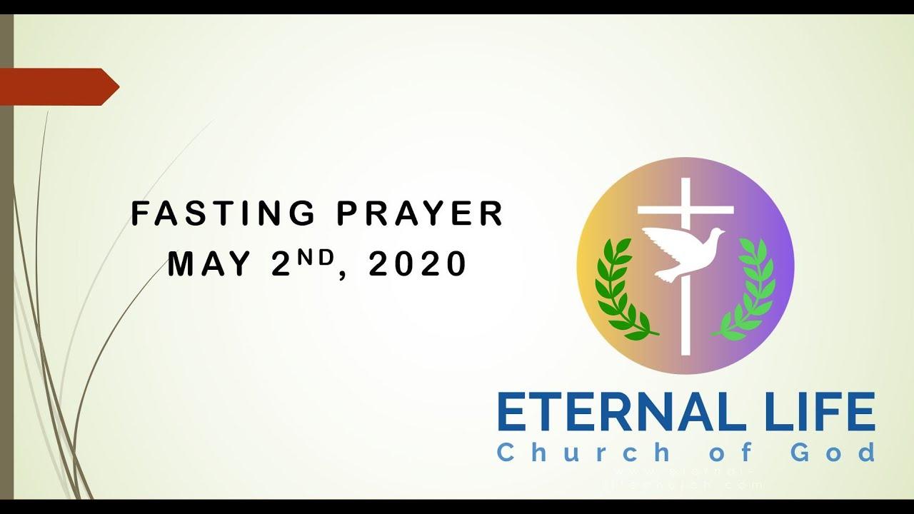 FASTING PRAYER MAY 2Nd