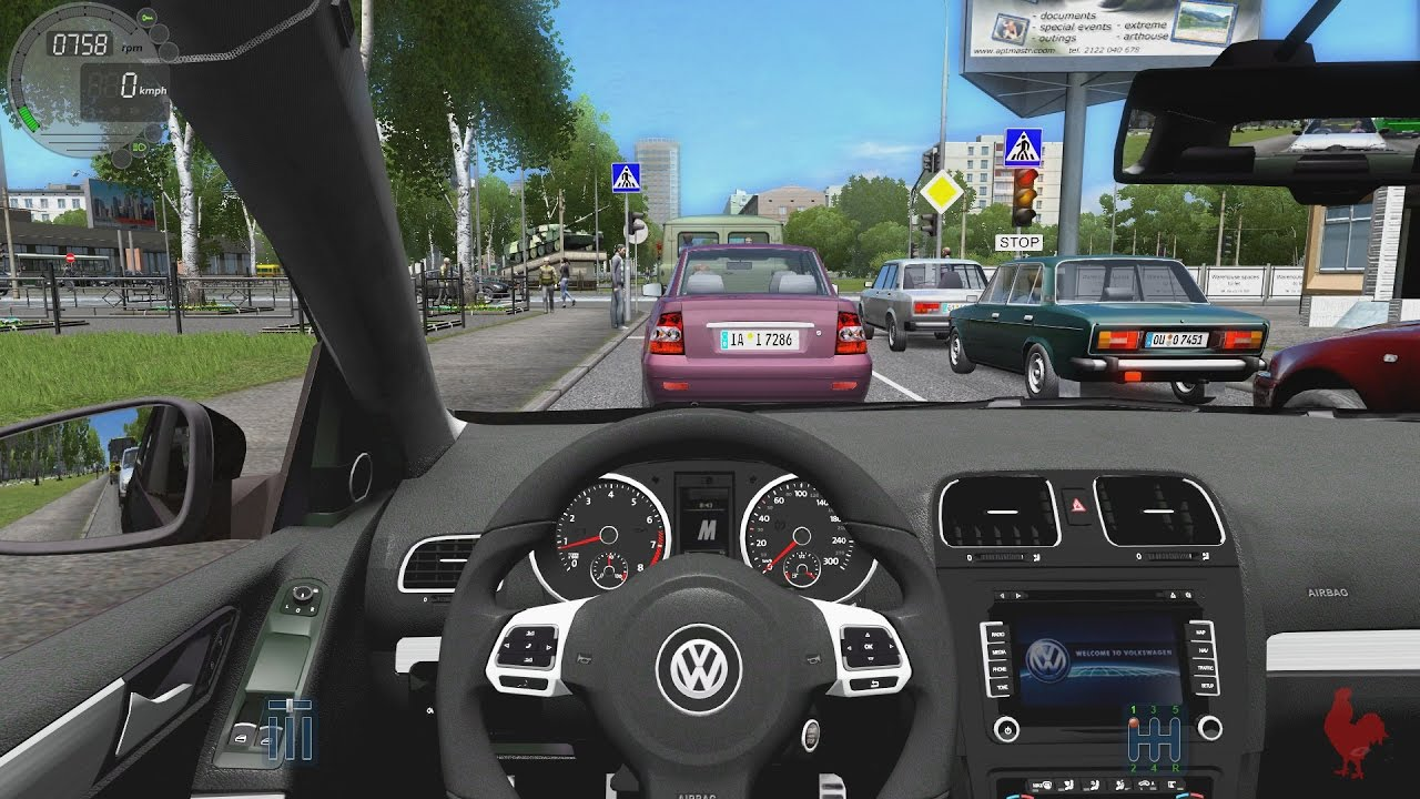 city car driving - volkswagen golf r | fast driving - youtube