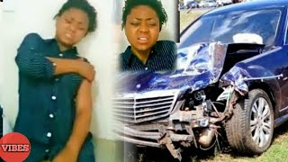 So SadRegina Daniels In Tears As She Survives Car Accident