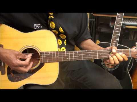 Barney Dinosaur TV Theme Song Guitar Lesson Acoustic Guitar EricBlackmonMusicHD Kids