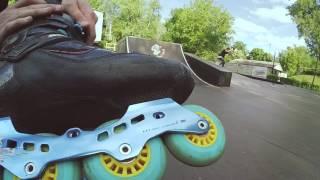 Xiaomi Yi test - трюки на роликах в скейт-парке