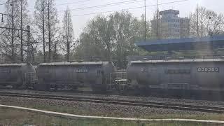 8518호 8500호대 전기기관차 통과 화서역 벌크세멘…