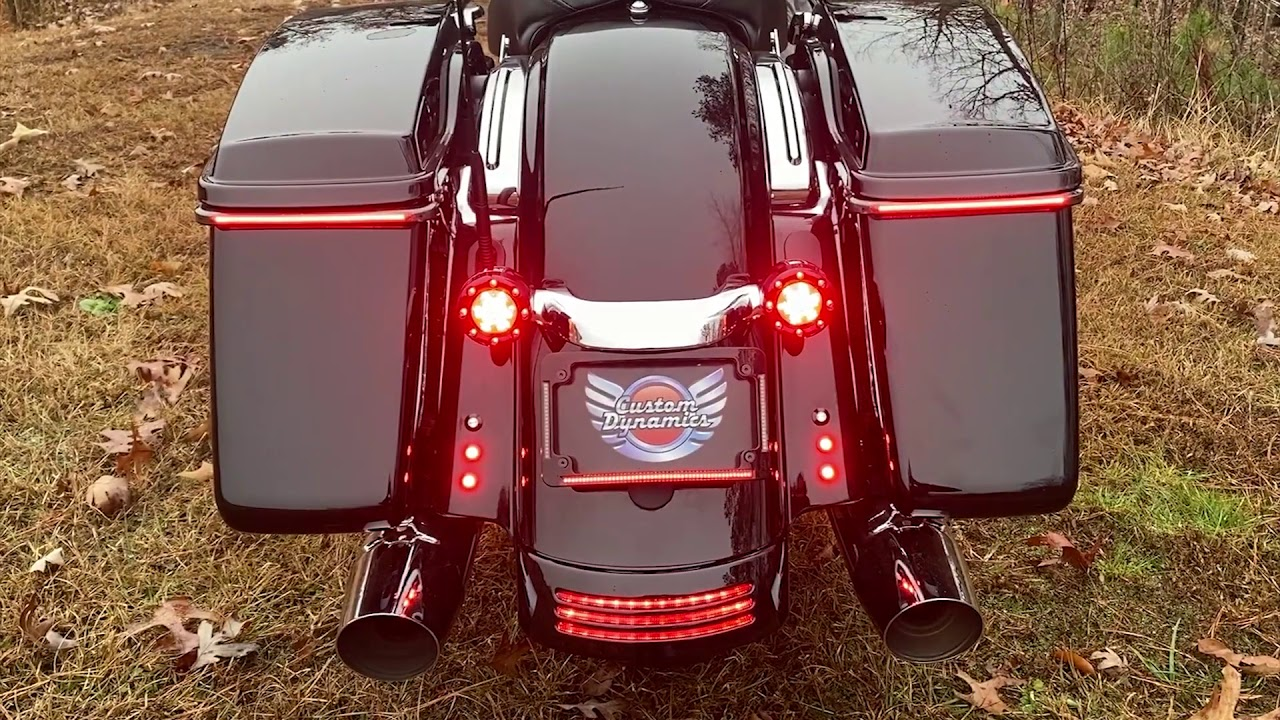 Domestic Bullet Rear Light Bar curve licence Plate For Harley Street Road Glide