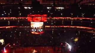 Derrick Rose United Center Comeback Intro Chicago Bulls vs 76ers 4-11-15