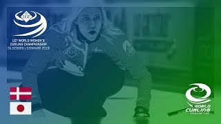 Denmark v Japan - round robin - LGT World Women's Curling Championships 2019