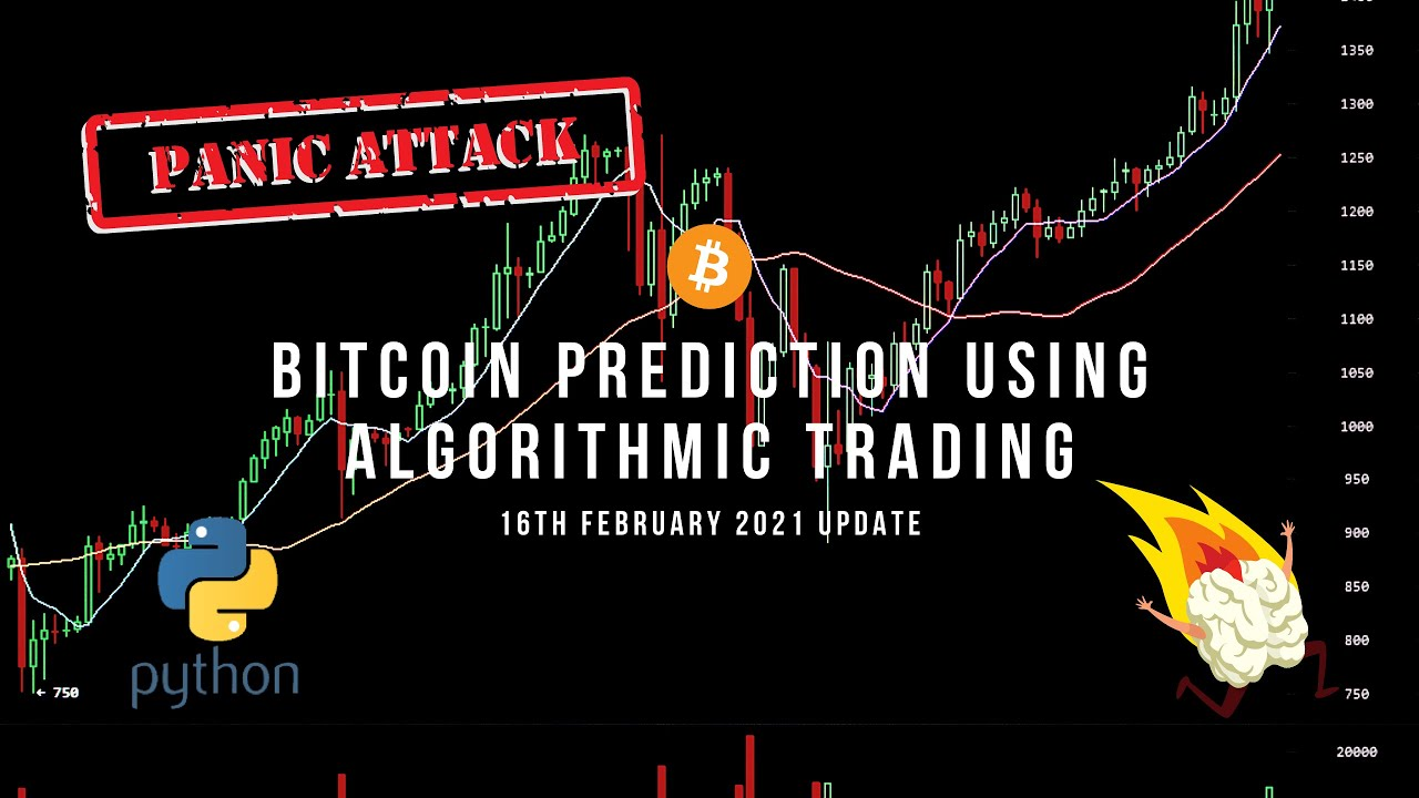 Live Algorithmic Trading Tutorial (Python): BITCOIN Prediction using Algorithmic trading.