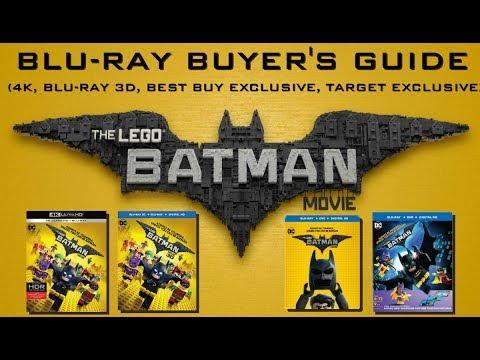 THE LEGO BATMAN MOVIE - BLURAY BUYERS GUIDE (4K, BLU-RAY 3D, BEST ...