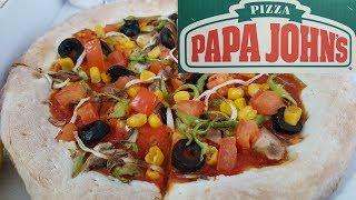 PAPA JOHN'S VEGAN VERSİYON #veganized (Yemeğim Nasıl Geldi İçerir)