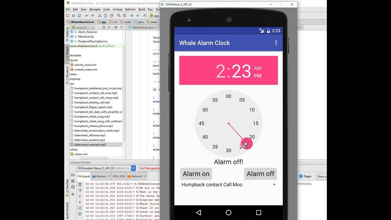 Android alarm clock tutorial: part 11, Spinner III - YouTube