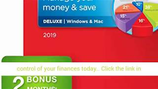 Quicken Deluxe 2019 Personal Finance & Budgeting Software [PC/Mac Disc] 1-Year Membership + 2 Bo