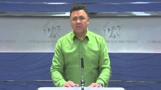 Rueda de Prensa de Juan Antonio Delgado en el Congreso de los Diputados