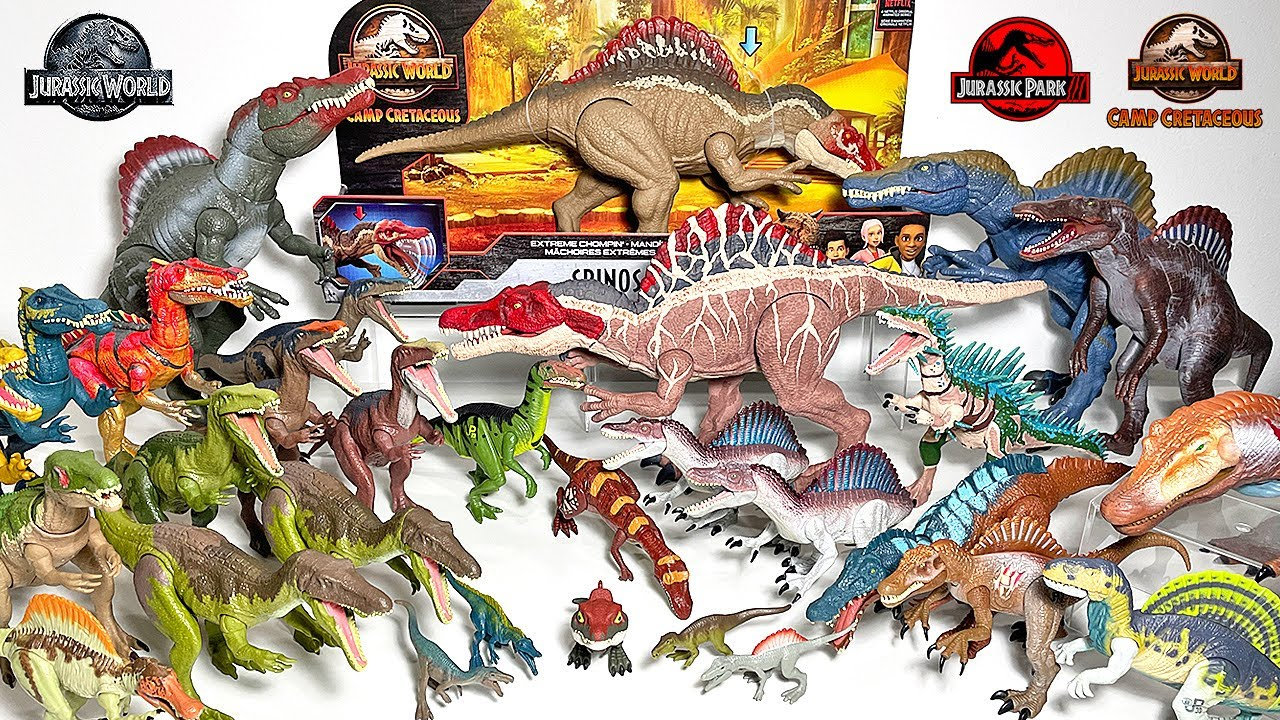 NEW SPINOSAURUS! 2021CAMP CRETACEOUS JURASSIC WORLD EXTREME CHOMPIN and Spinosaurids Collection!