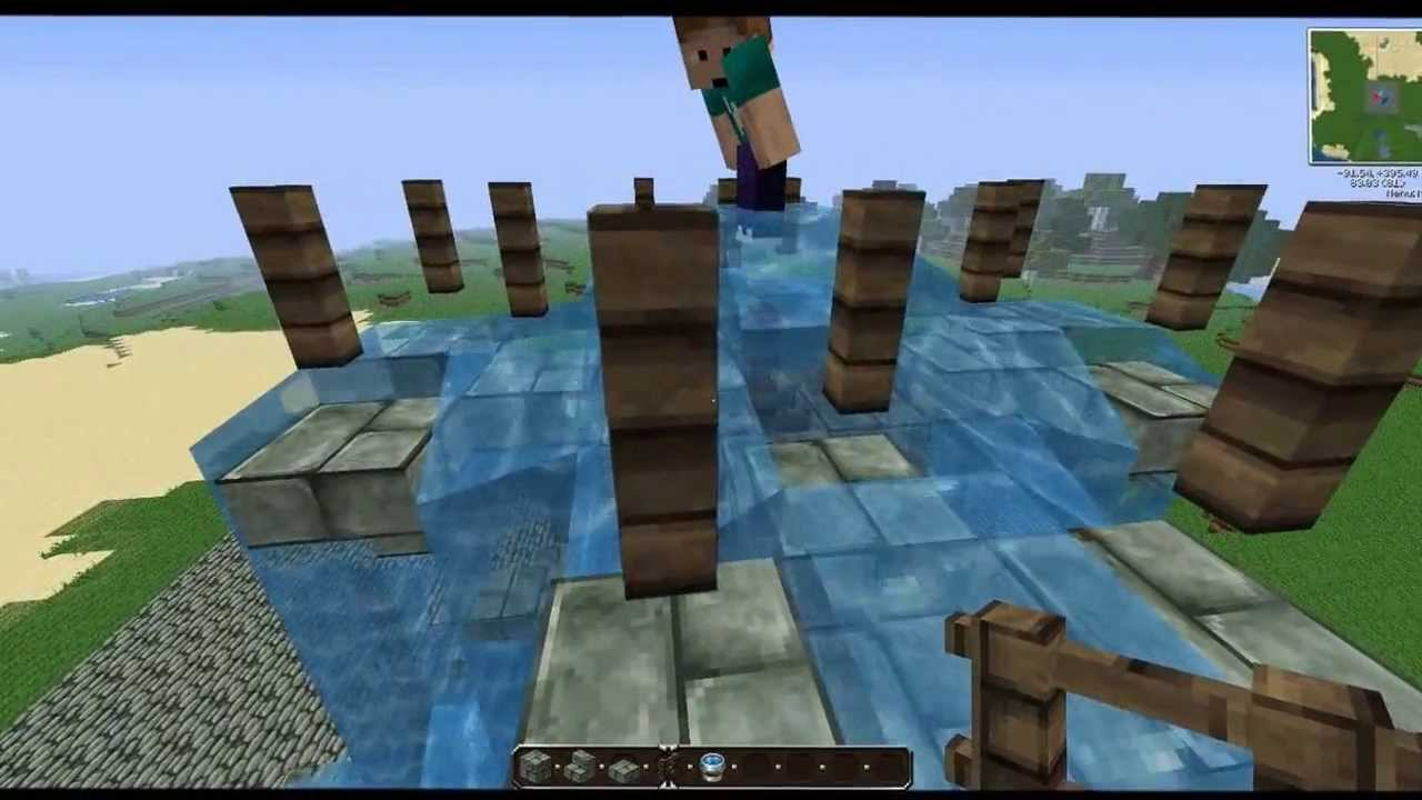 how to make fountain in minecraft