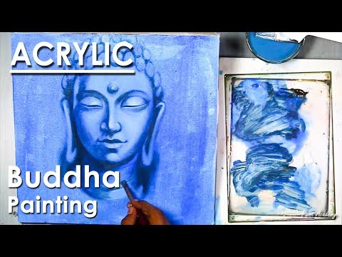 Lord Buddha Painting | Acrylic on Canvas