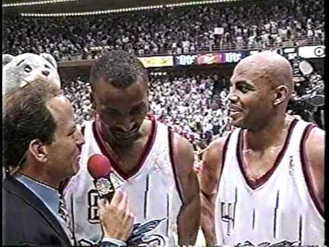 Eddie Johnson GameWinning 3pt  Game 4  '97 Conference Finals  52597 original broadcast