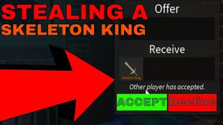 I STOLE THIS GUYS SKELETON KING! *BEST SCAM* (ROBLOX ASSASSINS BEST SCAM EVER!)