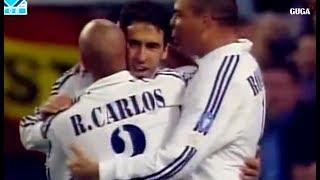 مباراة قوية جدا في ابطال اوربا..مباراة النجوم والزمن الجميل عام 2003..ريال مدريد ضد ايسي ميلان