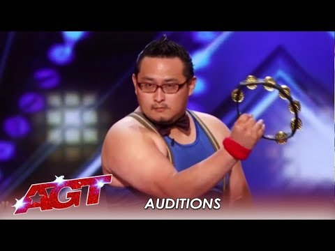 Japanese Tambourine Player Plays His FACE OFF! Literally.| America's Got Talent 2019