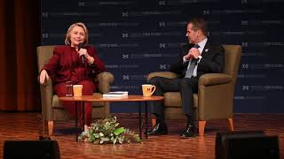 Hillary Clinton talks impeachment, election fraud at Q&A after UM lecture