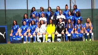Backstage della foto ufficiale delle Azzurrine - Women's Under 19 Euro
