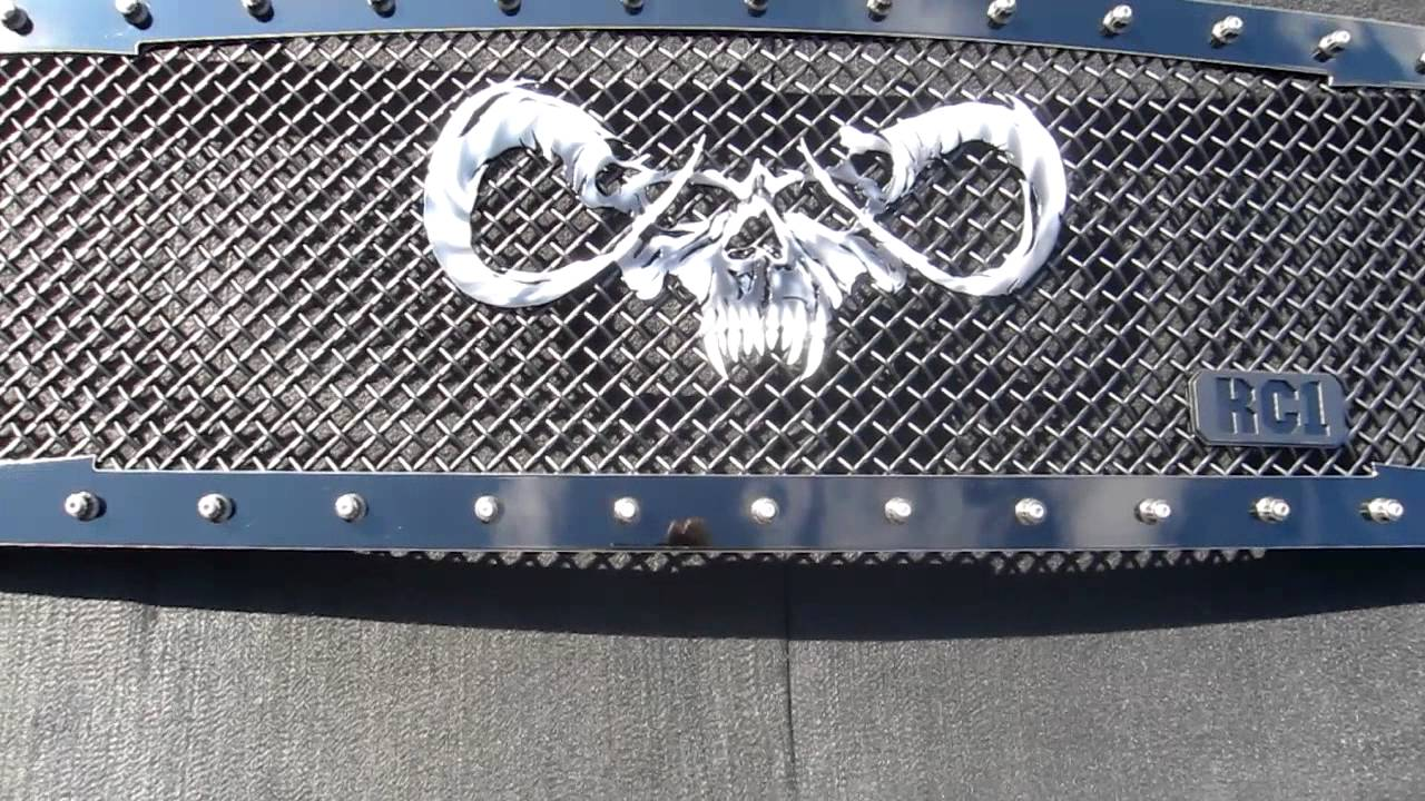 Sinister Goat Skull Custom Machined Airbrushed Logo ...