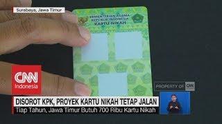 Disorot KPK, Proyek kartu Nikah Tetap Jalan