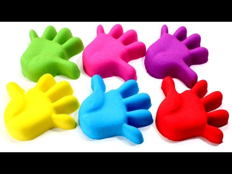 Thumbnail: DIY Kinetic Sand Hands Learn Colors Peppa Pig Molds Pez Surprise Toys