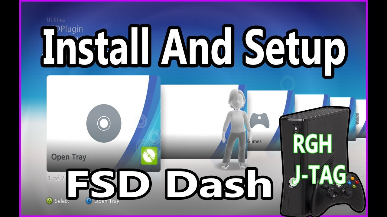 How To Install FSD FreeStyle Dash And Setup For RGH JTAG Xbox 360 2019