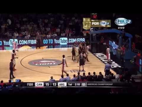 Dwight Powell vs Argentina FIBA Americas 2015