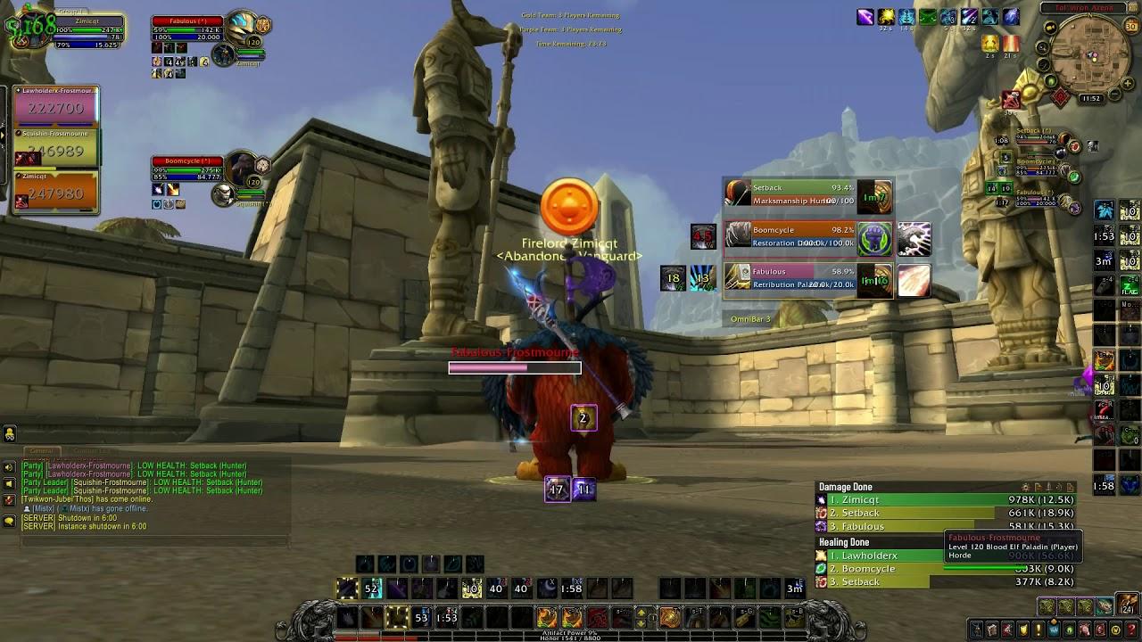 Sub Rogue Boomy Is Insane Balance Druid 3v3 Arena Battle For Azeroth Youtube