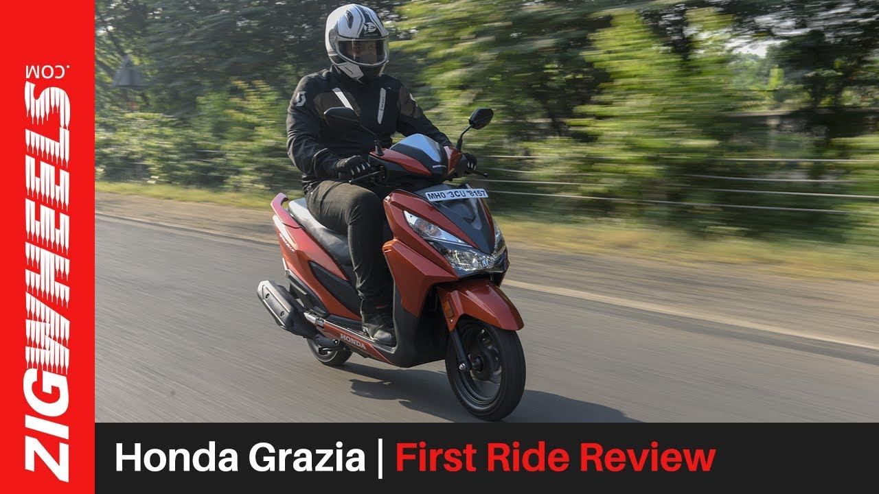 honda grazia first ride review zigwheels com youtube