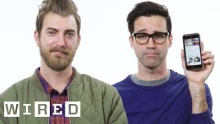 """Internetainers Rhett & Link gather up their courage and show us the last things they did with their phones. """"Rhett and Link's Buddy System"""" Good Mythical ..."""
