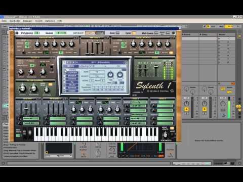 Ableton Live playing around with vst´s sylenth massive Nicky Romero Kick