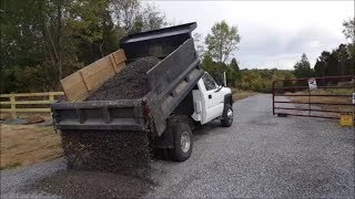 DIY Tail gating gravel for the first time...