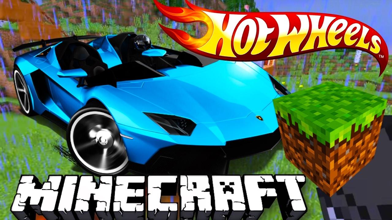 Hot Wheels хот вилс в майнкрафт гоночные машинки Minecraft 4 развивающий мультик для детей
