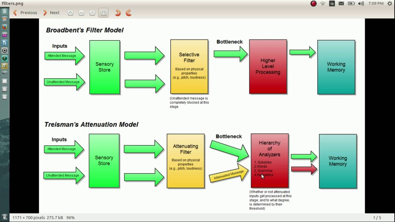 modelos de filtro de broadbent y treisman youtube