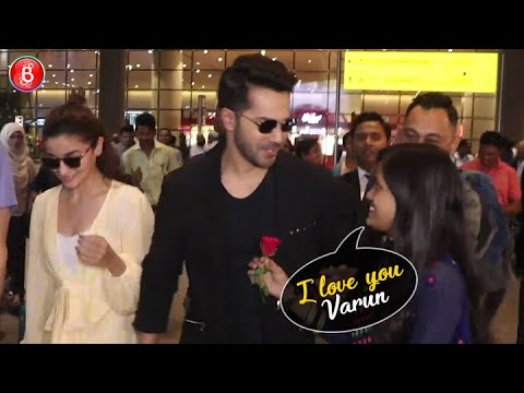 Varun Dhawan's ROMANTIC Reaction When A Fangirl PROPOSES Him At The Airport Mp3