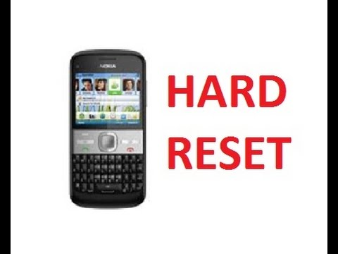 Nokia e5 00 hard reset